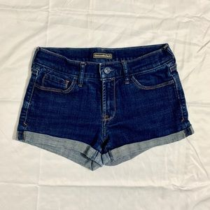 Abercrombie & Fitch dark blue jean shorts